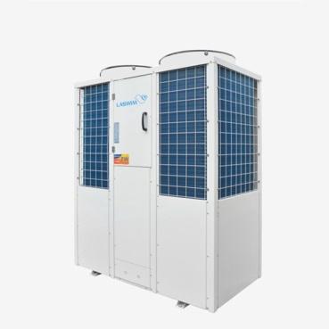 联盛:携50匹游泳池用G型空气源热水机出席2019中国热泵展